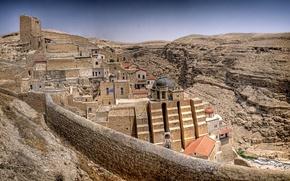 Картинка горы, скалы, крепость