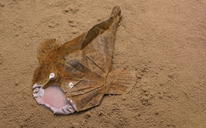Картинка бумага, рыба, оригами, Удильщик, Monkfish