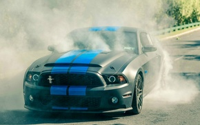 Картинка дым, Mustang, burnout