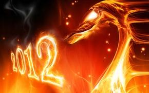 Картинка новый год, 2012, new Year, fire dragon, огонь дракона, Год Дракона, The Year of the …