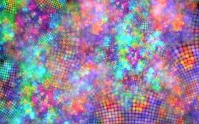 Картинка абстракция, сетка, обои, узоры, рисунок, графика, клетки, фрактал, решётка, цветные пятна