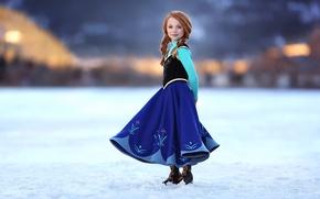 Картинка улыбка, девочка, косички, рыжеволосая, Little Princess