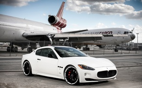 Картинка Maserati, white, vossen, Granturismo