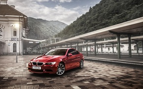 Картинка BMW, red, coupe, E92, Tuning