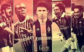 Картинка wallpaper, sport, football, legends, AC Milan, players, Clarence Seedorf, Filippo Inzaghi, Alessandro Nesta, Mark van …