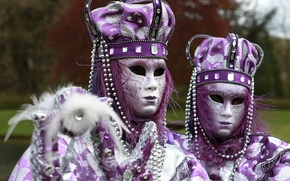 Картинка пара, наряд, карнавал, костюмы