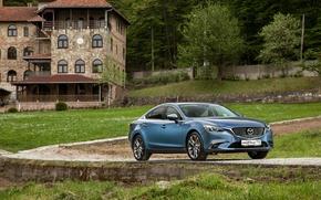 Обои седан, 2015, Sedan, Mazda 6, мазда