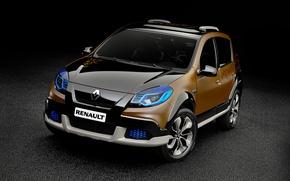 Обои сандеро, Sandero, Stepway, степвей, 2010, Renault, рено, Concept