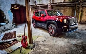 Картинка джип, Jeep, 2015, Renegade, ренегат, Garage Italia Customs, Montreux Jazz Festival Showcar