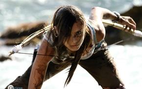 Картинка взгляд, Tomb Raider, Charly Brusseau, лицо, косплей, профиль, волосы, девушка, Lara Croft