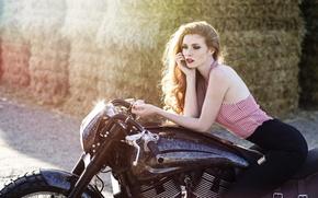 Картинка Girl, beautiful, classic, american, Moto, Victory
