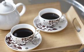 Картинка фон, обои, настроения, кофе, тарелка, ложка, чаепитие, чашки, посуда, кружки, сервиз
