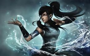 Картинка глаза, вода, девушка, арт, ninjatic, avatar: the legend of korra, korra