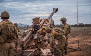 Картинка оружие, солдаты, гаубица, Australian Army, M777
