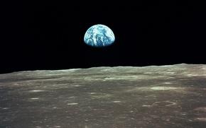 Обои планета, земля, Луна