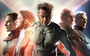 Картинка Action, Fantasy, Wolverine, Hugh Jackman, X-Men, Logan, Men, Wallpaper, Marvel, Eyes, James McAvoy, Magneto, Michael ...