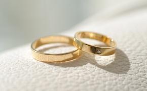Картинка золото, кольца, украшение, свадьба