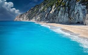 Картинка пляж, обрыв, океан, берег