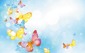 Картинка небо, коллаж, бабочка, крылья