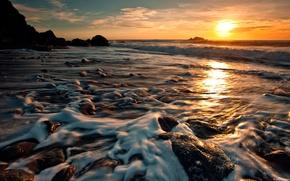 Картинка солнце, берег, красиво