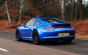 Картинка 911, Porsche, автомобиль, порше, Coupe, задок, выхлопы, Carrera 4 GTS