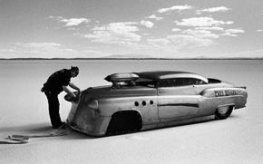 Картинка car, машина, озеро, drag, race, соль