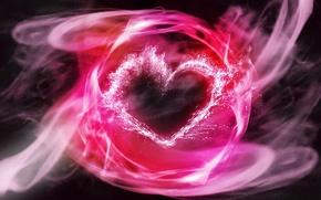 Картинка пламя, розовый, сердце, сердечко, heart