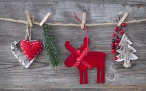 Картинка украшения, вишня, игрушки, елка, сердца, hearts, toys, New Year, Merry Christmas, cherry, клип, Christmas tree, …