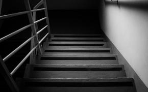 Картинка лестница, ступени, черно-белое