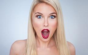 Картинка девушка, крик, эмоция, Scarlett Scream