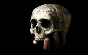 Картинка рука, смерть, череп