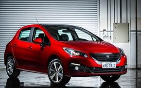 Обои Peugeot, красная, пежо, 308
