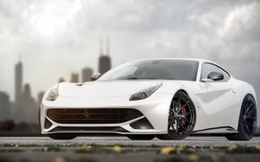 Картинка Ferrari, white, Berlinetta, F12, by jackdarton