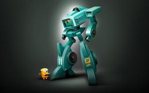 Картинка digital art, spektrum XL11, Робот