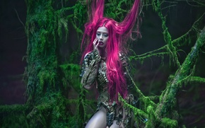 Картинка девушка, фантазия, арт, Ophelia Overdose, Agnieszka Lorek, Pink melancholy