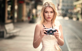 Картинка девушка, фотоаппарат, Анна, Lods Franck