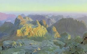 Картинка масло, Холст, Дмитрий БЕЛЮКИН (род. 1962), Рассвет на Синае