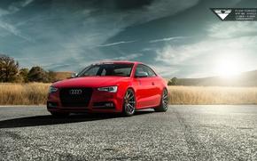 Картинка Audi, Red, Vorsteiner, Tuning, Audi S5, 2015, Audi Cars, Audi Tuning, 2015 Vorsteiner Audi S5 ...