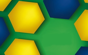 Картинка colorful, abstract, background, hexagons, brasil style