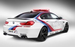 Картинка BMW, Gran Coupe, White, Tuning, Sedan, Safety Car, Moto GP