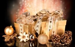 Обои christmas, праздник, елочные игрушки