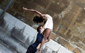 Обои танец, девушка, парень