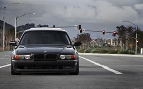 Картинка дорога, фары, перед, бумер, семёрка, e38, bumer, bmw 740