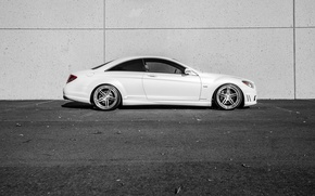 Картинка Mercedes, white, side, V12, CL600