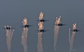 Картинка небо, авиация, самолёты