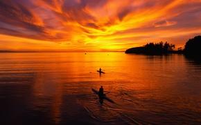 Обои море, вечер, небо