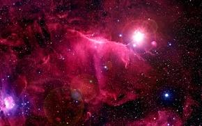 Картинка космос, туманность, звёзды, nebula