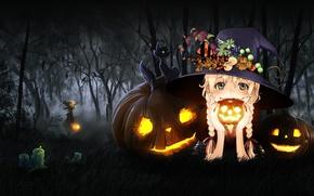 Картинка Halloween, Fantasy, holidays, Honnoror