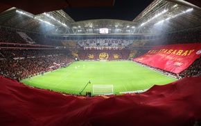 Картинка турция, стадион, галатасарай, Galatasaray, turk telekom, Турк Телеком Арена, баннеры