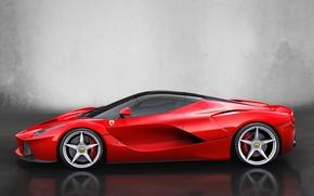 Картинка авто, тачка, Ferrari, феррари, вид сбоку, 2013, LaFerrari